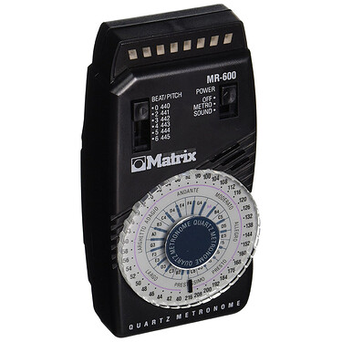 Matrix MR-600 Quartz Metronome w LED Pendulum Simulation