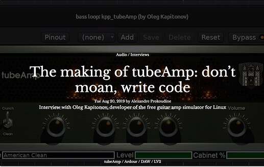 The making of a TubeAmp