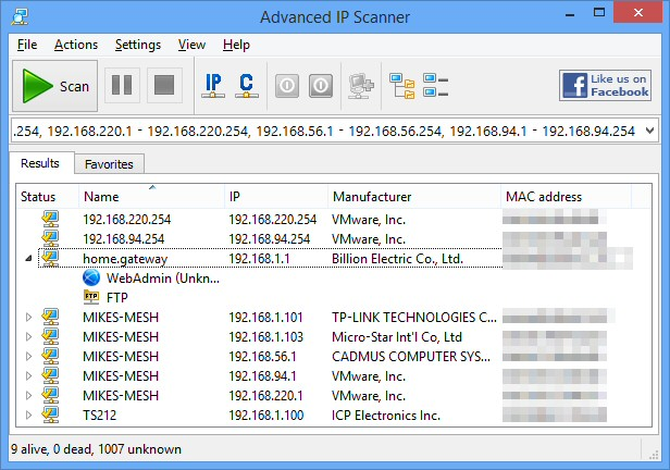 advanced ipscanner